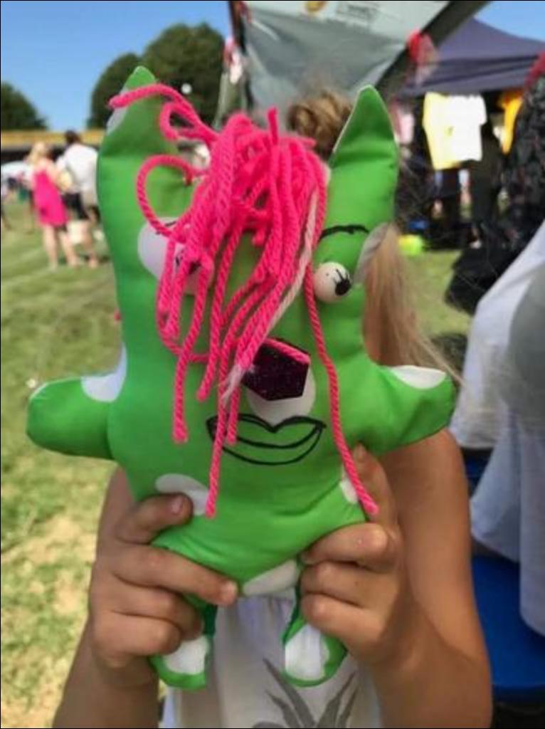 Fielding Primary Summer Fair going green - green homemade creature