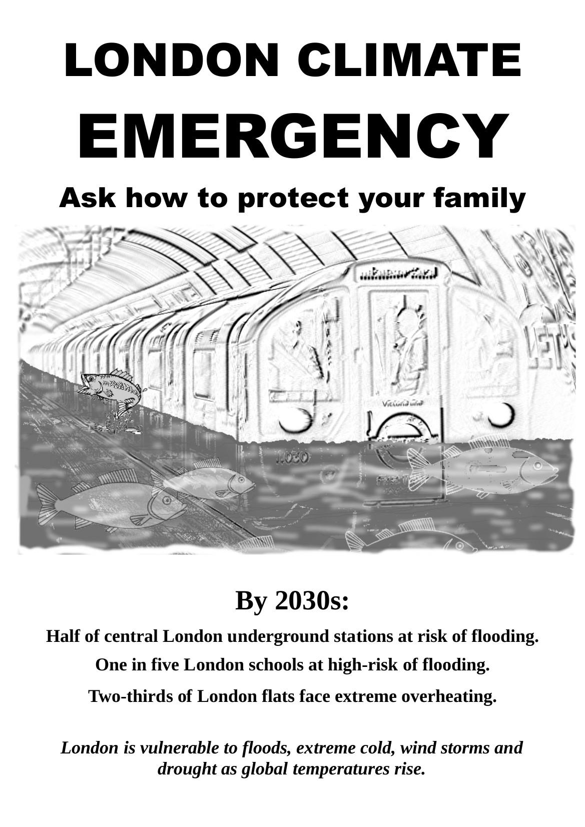 LondonClimateEmergencyPoster